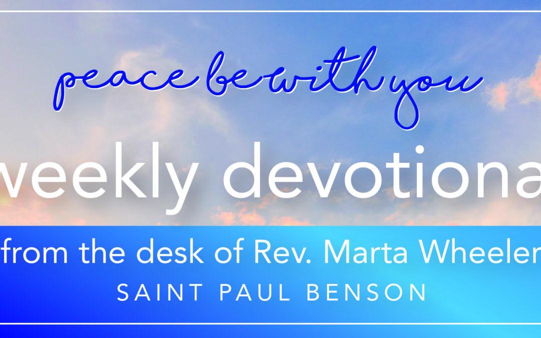 Weekly Devotional ~ Sensing Beauty