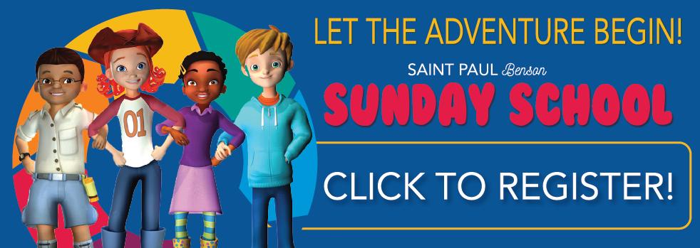 Sunday School Begins September 12